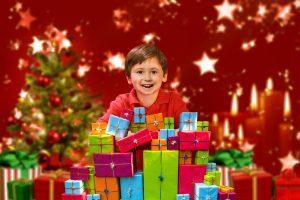 Los niños y los regalos en Navidad